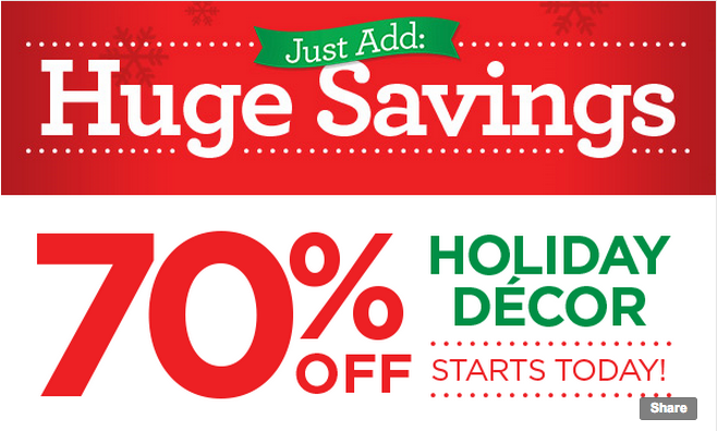 Huge holiday d cor sale at michaels now through december 14 for Michaels arts and crafts queens
