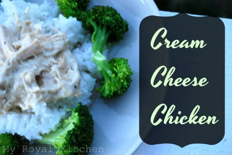 Cream Cheese Chicken in the Slow Cooker!
