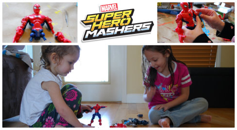 Super Hero Mashers, collage