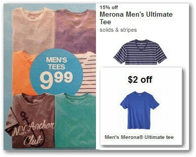 Grab your Target coupon for $3/1 Merona Apparel item and grab one of those FUN shirts for just $3! (some are priced higher than $6, so watch your prices – also keep a look out for clearance to score an even BETTER deal.).