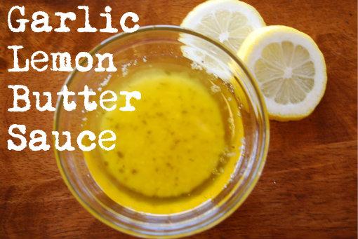 lobster, garlic lemon butter sauce