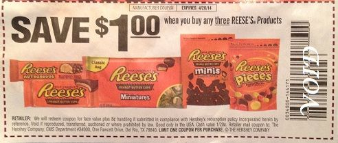 reeses mini peanut butter cups coupons