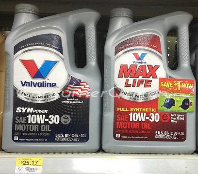 Valvoline Motor Oil Coupons Walmart Deals