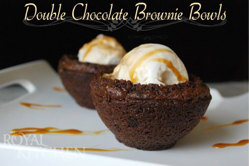 Double Chocolate Brown Bowls
