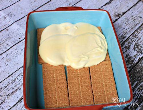 Chocolate Eclair Cake Step 1