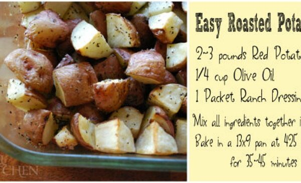 Easy 1, 2, 3, Roasted Potatoes