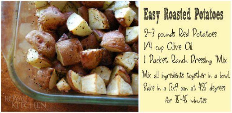 Easy 1, 2, 3, Roasted Potatoes