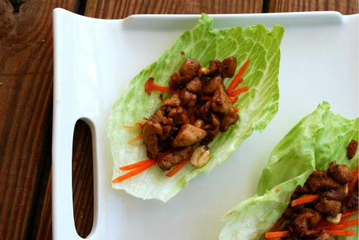 lettuce wraps top view