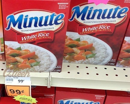 Minute Rice Money Maker at Crest Foods, 19¢ at Homeland!