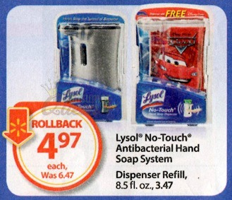 Lysol No Touch Soap Dispenser As Low As 97 162 At Walmart