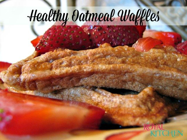 Healthy Oatmeal Waffles
