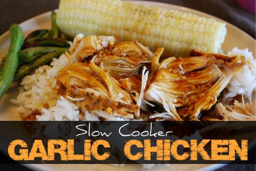 Sweet Garlic Chicken in the Slow Cooker