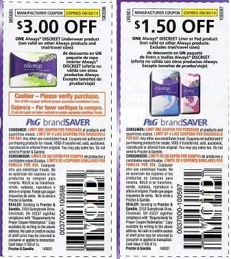Always pads coupons printable 2018 - Earthbound trading