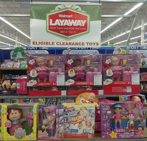 Clearance Toys on Display for Layaway at Walmart!