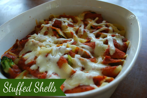 Stuffed Shells…an easy homemade meal!