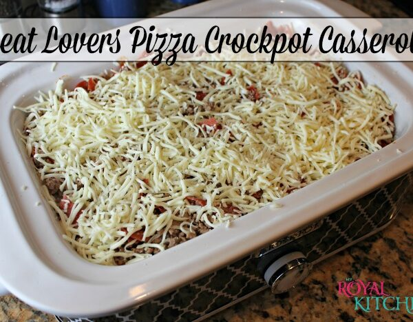 Meat Lovers Pizza Crockpot Casserole