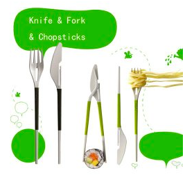 On The Go, Knife-Fork-Chopsticks! Only $2.49 + Free Shipping!