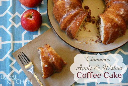 Cinnamon, Apple and Walnut Coffee Cake