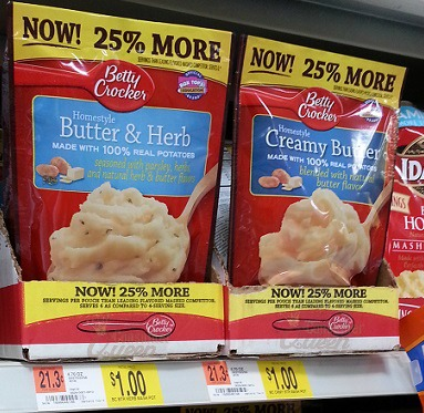 Betty Crocker Potatoes – Bonus Pouches 75¢ at Walmart!