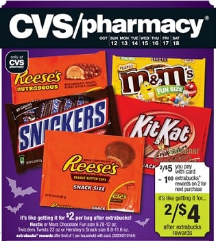 Mars Fun Size Candy Coupon + Store Deals (as low as $1)