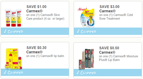 New Carmex Coupons + Store Deals!
