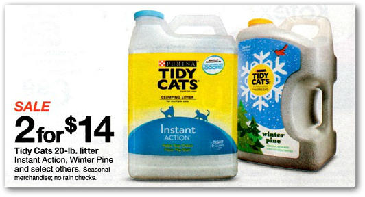 Tidy Cat Scoopable Litter Coupon