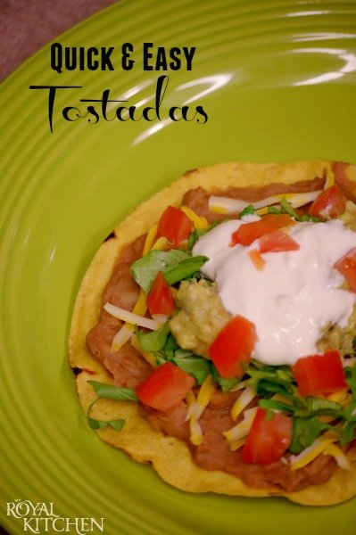 Quick And Easy Tostadas