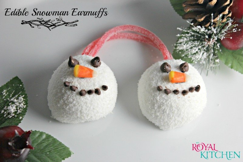 Edible Snowman Earmuffs