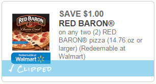 We have a new $1/2 Red Baron Pizzas coupon to print and a sale at Harris Teeter! Buy (2) Red Baron Pizza $ each Use $1/2 Red Baron Pizzas coupon Pay $ or $ each.