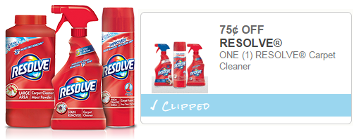 New Resolve Carpet Cleaning Coupons