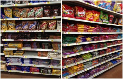 #BigGameTreats Walmart Candy Aisle