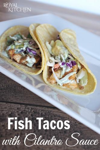 Fish Tacos With Cilantro Sauce