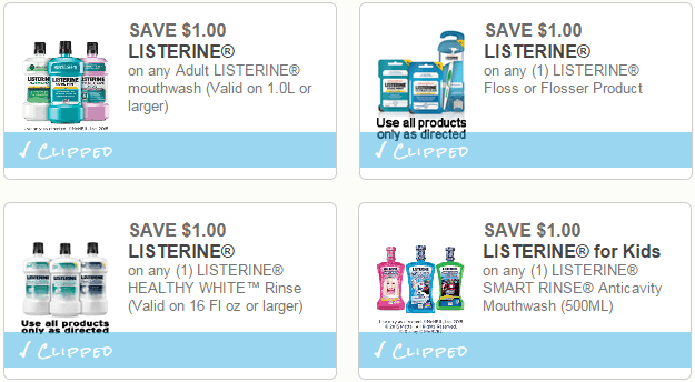image regarding Listerine Coupons Printable identify Clean Listerine Printable Discount coupons + Shop Bargains (as reduced as 49¢!)