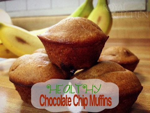 Healthy Chocolate Chip Mini Muffins