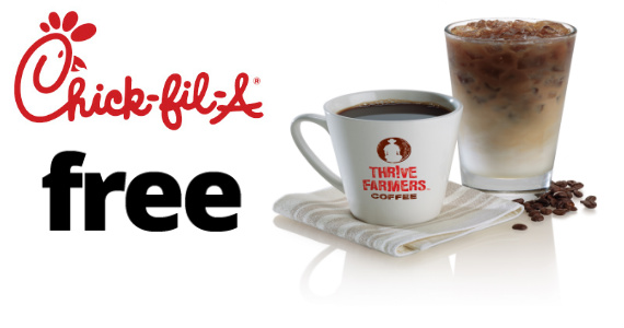 FREE Coffee at Chick-Fil-A for the rest of the Month!