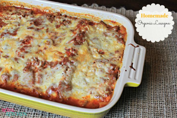 Homemade Organic Lasagna