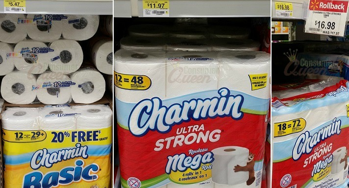 Stock-up Deals on Charmin Tissue at Walmart (as low as 14¢ per roll!)