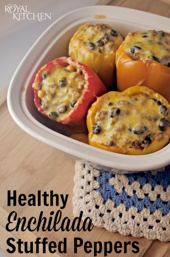 Healthy Enchilada Stuffed Peppers
