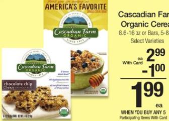 Cascadian Farm Mega Sale