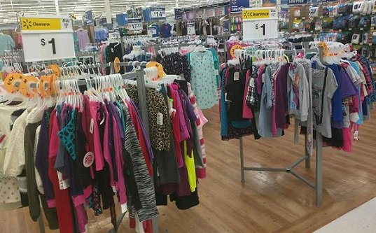 $1 Clothing Clearance at Walmart + More! If you are heading to your local Walmart store be sure to look for the big yellow Clearance signs! People are finding clothing items for just $1! There are other items too that are marked down. Lego Friends sets for just $1. Oxi Clean Dishwasher powders $3 with a $2 attached coupon = $1. PJ sets for $2.