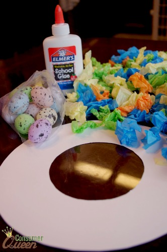 tissue paper easter wreath 1