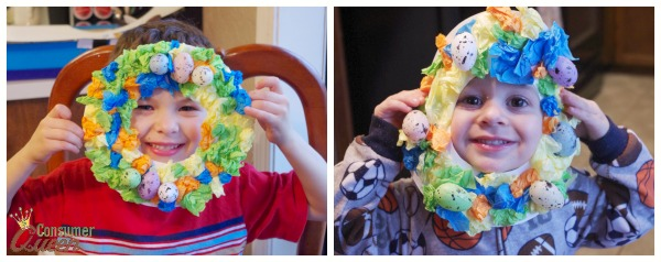 tissue paper easter wreath 3