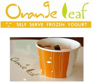 Frozen Yogurt FREE at Orange Leaf in Moore April 18