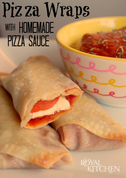 Pizza Wraps With Homemade Pizza Sauce
