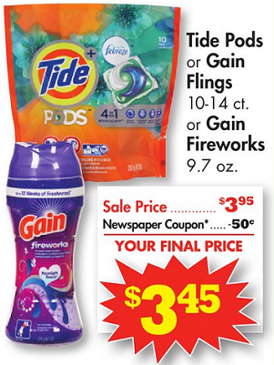 Gain Fireworks & Tide Pods $1.95 at Family Dollar This Week!