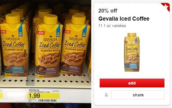 Gevalia Iced Coffee 49¢ at Target, 19¢ at Homeland/Country Mart!