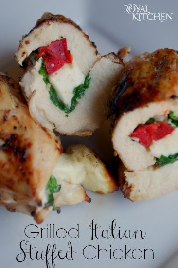 Grilled Italian Stuffed Chicken