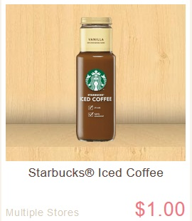Starbucks Iced Coffee 29¢ at Walgreens This Week