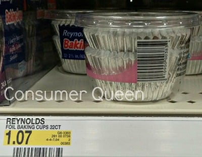 Reynolds Foil Baking Cups only 57¢ at Target!