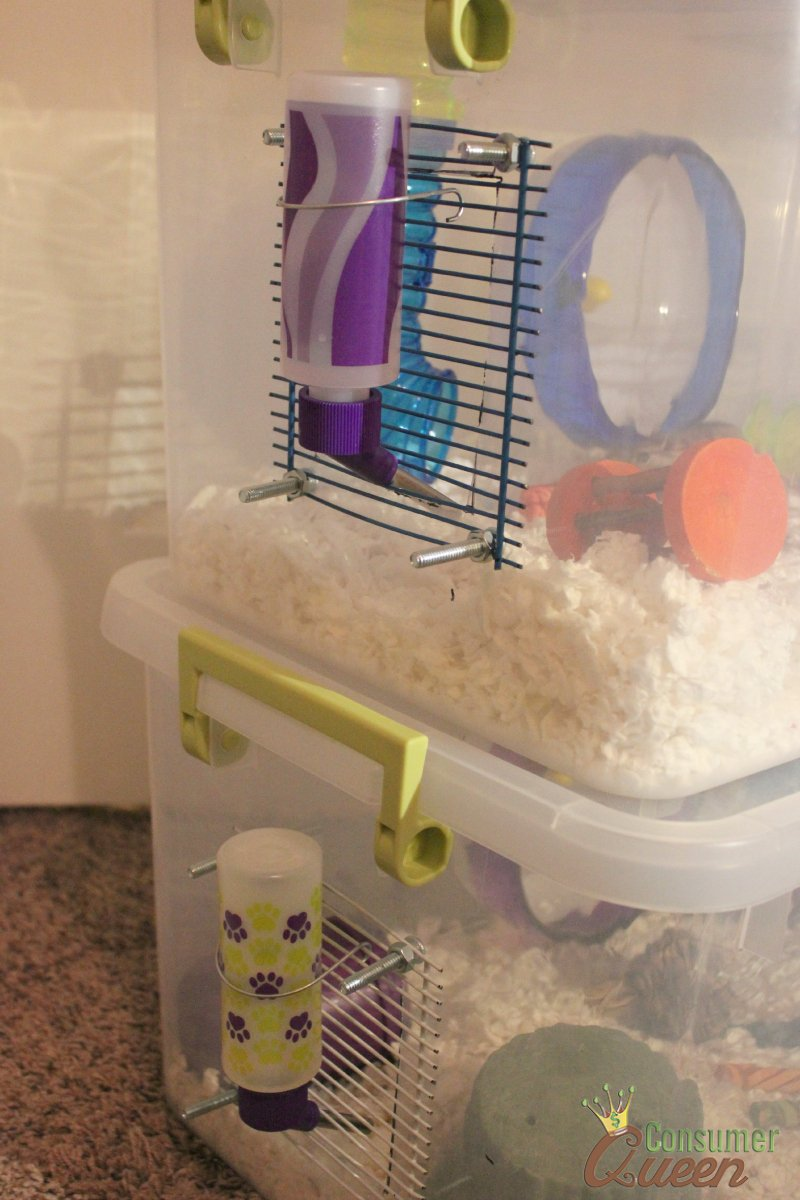 Gerbil Water Bottles & DIY Three Story Gerbil Cage Also Good For Hamsters